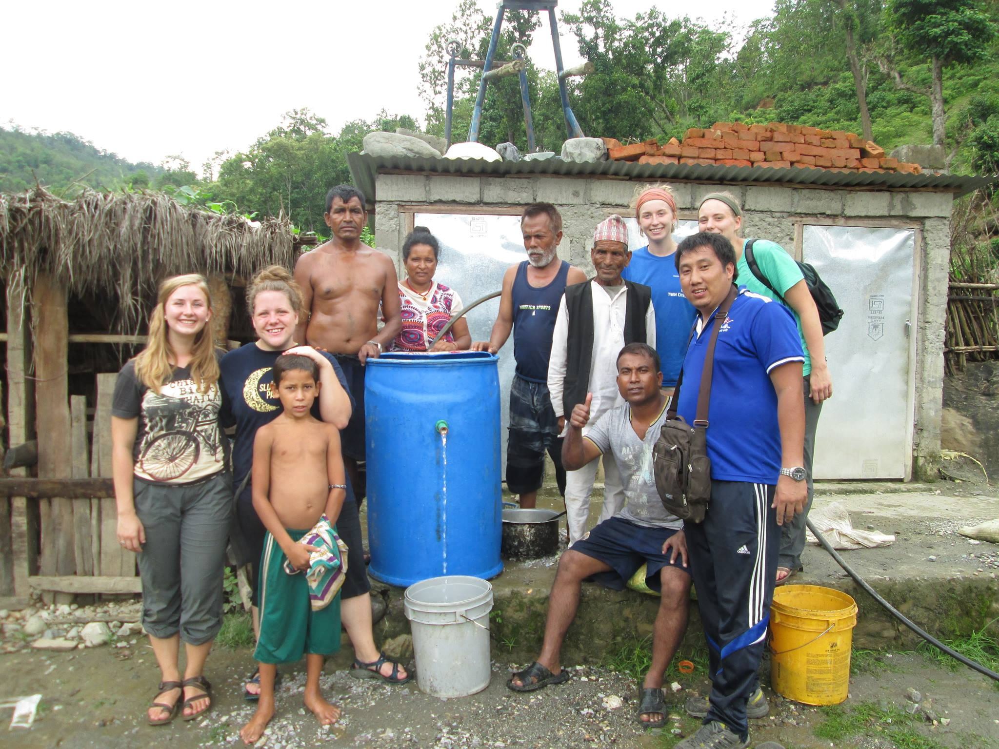Making Water Filters in Nepal